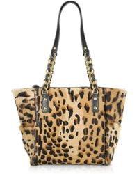 Fontanelli - Calfhair Leopard Print Mini Tote - Lyst