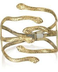 Bernard Delettrez - Six Snake Bronze Cuff Bracelet - Lyst