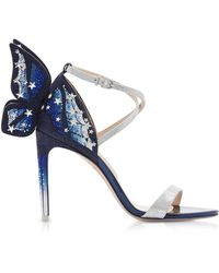 Sophia Webster Silver & Midnight Blue Chiara Embellished Sandals