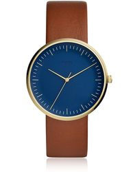 Fossil - The Essentialist Three Hand Brown Luggage Leather Men's Watch - Lyst