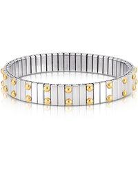 Nomination | Beads Stainless Steel W/golden Studs Women's Bracelet | Lyst