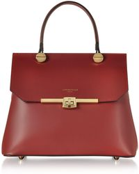 Le Parmentier - Atlanta Top Handle Satchel Bag W/shoulder Strap - Lyst