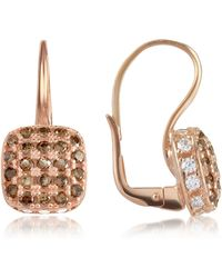 Azhar | Cubic Zirconia And Sterling Silver Square Earrings | Lyst