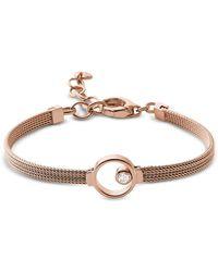 Skagen - Elin Rose Gold Tone Crystal Women's Bracelet - Lyst