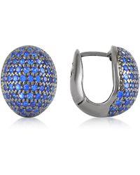 Azhar - Blue Cubic Zirconia Earrings - Lyst