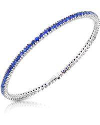 FORZIERI - Blue Sapphire 18k Gold Tennis Bracelet - Lyst