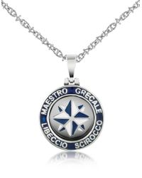 FORZIERI - Stainless Steel Wind Rose Pendant Necklace - Lyst
