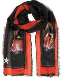 Givenchy - Rottweiler Printed Chasmere And Silk Stole - Lyst