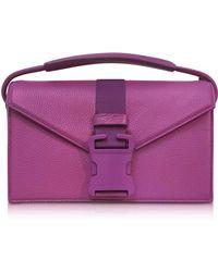 Christopher Kane - Purple Grained Leather Devine Og Bag - Lyst