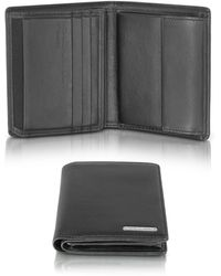 Porsche Design - Cl 2.0 Black Square Leather Wallet W/coin Pocket - Lyst