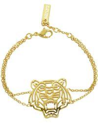 KENZO - Gold Plated Tiger Bracelet - Lyst