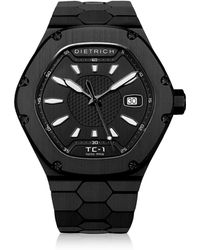 Dietrich - Tc-1 Pvd Stainless Steel W/white Luminova And Black Dial - Lyst