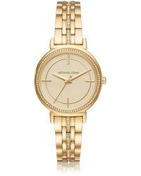 Michael Kors - Cinthia Golden Stainless Steel Women's Watch - Lyst