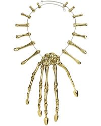 Bernard Delettrez - Bronze Skeleton Hand Necklace - Lyst