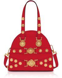 Lyst - Versace Palazzo Empire Multicolor Leather Handbag in Blue 000ff9861badf