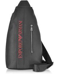 1ac1cf882fb7 Emporio Armani - Signature Embossed Eco Leather Men s Backpack - Lyst