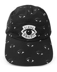 KENZO - Black Cotton Eye Cap - Lyst
