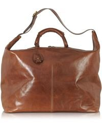 The Bridge - Story Viaggio Marrone Leather Weekender Bag - Lyst