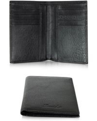 Pineider - Country Black Leather Vertical Wallet - Lyst