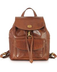 The Bridge - Story Donna Marrone Leather Backpack - Lyst