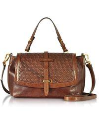 The Bridge - Salinger Woven Leather Medium Satchel Bag - Lyst