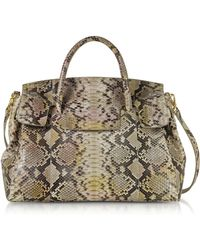 Ghibli - Python Leather Large Satchel Bag - Lyst
