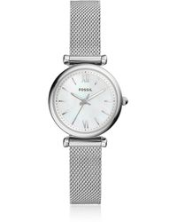 Fossil - Carlie Mini Three Hand Mesh Women's Watch - Lyst