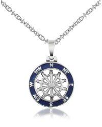 FORZIERI - Halskette mit rundem Anhänger aus Edelstahl - Lyst