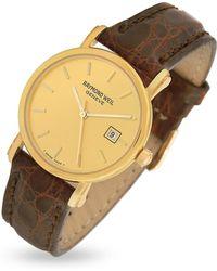 Raymond Weil - Brown Croco-stamped Leather Strap 18k Gold Date Dress Watch - Lyst