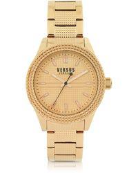 Versus - Bayside Rose Gold Tone Stainless Steel Women's Bracelet Watch - Lyst