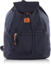 Bric's - X-travel Blue Nylon Backpack - Lyst