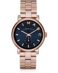 Marc By Marc Jacobs - Baker Bracelet 36mm Navy Blue Dial Women's Watch - Lyst