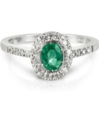 FORZIERI - Emerald And Diamond 18k White Gold Ring - Lyst