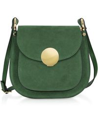 Le Parmentier - Agave Suede And Smooth Leather Shoulder Bag - Lyst