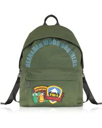 DSquared² - Military Green Nylon Medium Backpack W/patches - Lyst