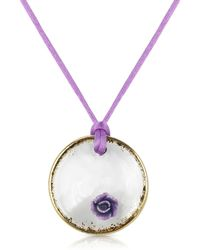 House of Murano - Round Murano Glass Pendant W/ Lace - Lyst