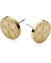 Michael Kors - Heritage Metal Earrings W/crystals - Lyst