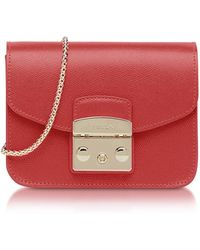 Furla - Ruby Leather Metropolis Mini Crossbody Bag - Lyst