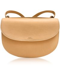 A.P.C. - Beige Geneve Leather Crossbody Bag - Lyst