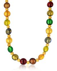 Antica Murrina - Manuela - Multi-color Murano Glass And Sterling Silver Necklace - Lyst