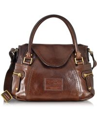 The Bridge | Icons Gaucho Small Leather Satchel W/shoulder Strap | Lyst