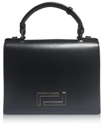 Lancel - Pia Black Smooth Leather And Suede Satchel Bag - Lyst