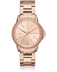 Armani Exchange - Lady Banks Rose Pvd Women's Watch - Lyst