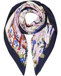 Tory Burch - Meadow Folly Silk Square Scarf - Lyst