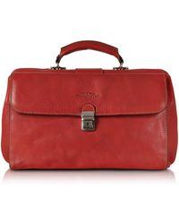 Robe Di Firenze - Red Medium Genuine Italian Leather Doctor Bag - Lyst