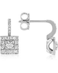 FORZIERI - 0.48 Ctw Diamond 18k White Gold Earrings - Lyst