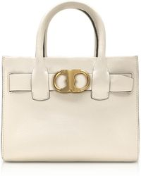 Tory Burch - Gemini Link New Ivory Leather Small Tote Bag - Lyst