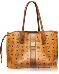 MCM - Cognac Shopper Project Visetos Liz Reversible Medium Tote - Lyst