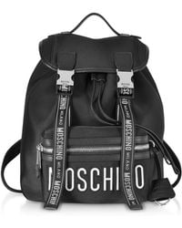 Moschino - Black Signature Backpack - Lyst