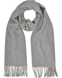 Mila Schon | Cashmere And Wool Taupe Fringed Long Scarf | Lyst